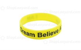 Solid Yellow Colorfilled Wristband-CFW12ASO