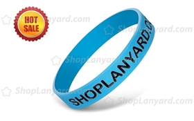 Debossed Color Filled Silicone Wristbands