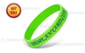 Imprinted Silicone Wristbands-PW12ASO